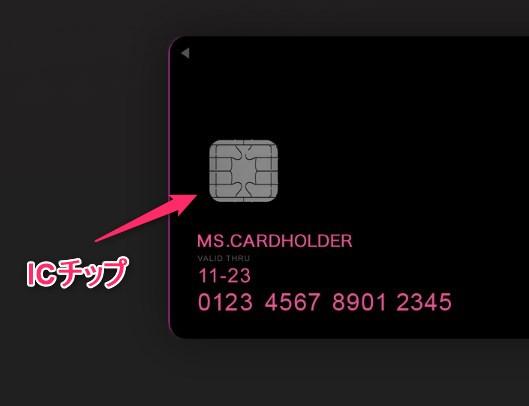 ZOZOカードのICチップ